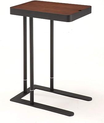 あずま工芸 ノエル サイドテーブル 収納付き ダークブラウン SST-810