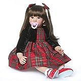 Binxing Toys 60 cm Muñecas Reborn Grandes Reborn Toddler Niña Vinilo de Silicona Mirada...