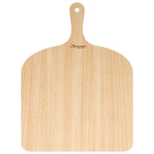 Eppicotispai   Pala para pizza, pala para pizza, pizza, madera de abedul, también disponible en un conjunto, 30 x 41,5 cm, madera, 1 unidad