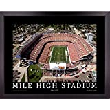 Denver Broncos Football Stadium Skyline Poster Wall Art Decor Framed Print   23 x 29   NFL Game at Mile High Field 1997   Aerial Posters & Pictures   Fan Gifts for Guys & Girls College Bedroom Walls