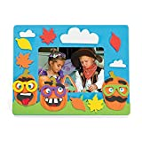 Funny Face Pumpkin Photo Frame Craft Kit - 12 - Crafts for Kids and Fun Home Activities