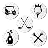 Myartte Creative Golf Ball Marker Soft Enamel Golf Markers 24.4MM Assorted 5 Pcs (Golf Club)
