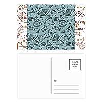 青白フクロウの美しい少女のイラスト 公式ポストカードセットサンクスカード郵送側20個