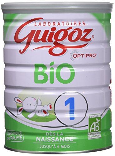 Guigoz BIO 1 Optipro Dès la naissance - Lait infantile 1er âge en poudre de 0 à 6 mois - Boite de 800g