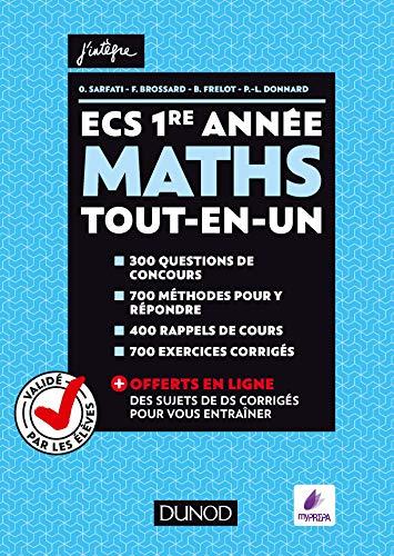 ECS 1re année - Maths - Tout-en-un (Concours Ecoles de Management)
