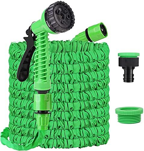 Tubo da giardino Espandibile 100ft flessibile flessibile tubo flessibile tubo flessibile con raccordi da 3 4  1 2  7 spray per auto per lavaggio auto, doccia Animali domestici
