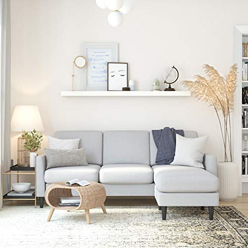 Mr. Kate Winston Sofa Sectional, Light Gray Linen