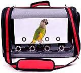 borsa da viaggio per uccelli, trasportino portatile per pappagalli per uccelli da compagnia gabbia da viaggio trasparente traspirante, trasportino per uccelli leggero e trasportino per piccoli animali