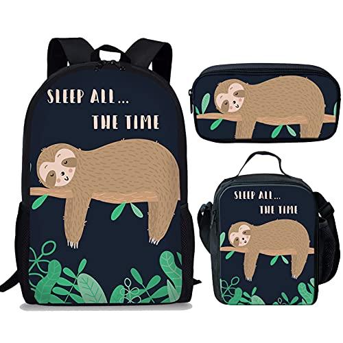 Showudesigns Mochila de la escuela de los niños animales de la impresión lindo con el bolsillo