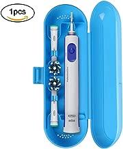Portátil Estuche de Viaje para Cepillo Eléctrico de Dientes 1 Piezas, URAQT Bolsa Caja Protectora de Azul para Oral-B y Philips(Azul