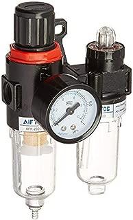 Norgail AFR-2000 AL-2000 Pneumatic Twin Air Filter Air Compressor Source Treatment with Regulator Trap 1/4
