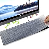 Keyboard Protector Skin for Dell KM636 Wireless Keyboard & Dell KB216 Wired Keyboard & Dell Optiplex 5250 3050 3240 5460 7450 7050 & Dell Inspiron AIO 3475/3670/3477 All-in one Desktop Keyboard, Clear
