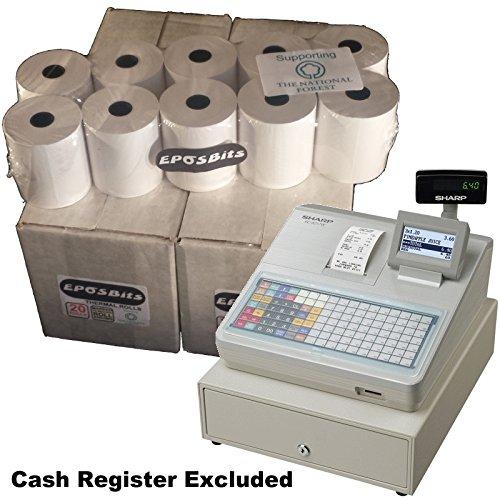 eposbits® Marke Rollen zu für Sharp xe-a217W xea-217W xea217W xea217xe-a217xea-217W Cash Register?40Rollen