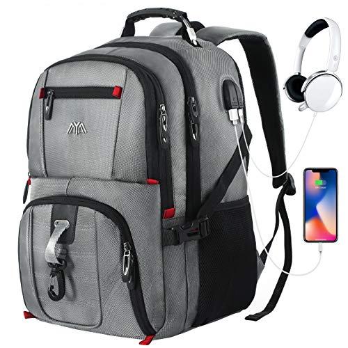 Schulrucksack Jungen Mädchen Teenager Rucksack Herren Damen für 15,6 & 17 Zoll Laptop (43cm) Rucksack Arbeit Wasserdicht Business Daypacks Großer mit USB