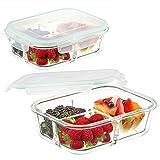 waremaid Glas Frischhaltedose Brotdose 3 Fächer - Glas Lagerbehälter Lebensmittel...