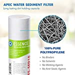 APEC Water Systems FILTER-SET-ES High Capacity Replacement Pre-Filter Set For Essence Series Reverse Osmosis Water… 12 APEC Water ESSENCE Series FILTER-SET-ES is for ROES-50, ROES-PH75, ROES-PHUV75, ROES-UV75-SS and ROES-UV75 Includes (1) sediment and (2) carbon block filters to protect and extend the life of the RO system 1st stage 5 micron Polypropylene sediment filter to remove dust, particles and rust