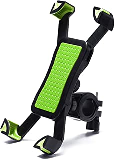AIJIA Stable Fashion Bike Phone Holder Handlebar Clip Non-slip 360 Rotate Bicycle Stand Mount Bracket for 3.5-6.5 Inch Mob...