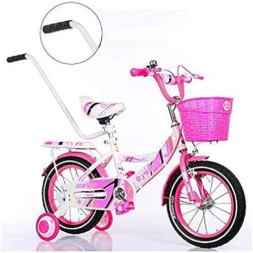 Girl's Bike mit Korb, 12, 14, 16 oder 18 Zoll mädchen fürrad mit Stützr r, Geschenke für Kinder, fürr r Girls' für Neugeborene (Farbe  Rosa, Größe  14 cm) - Rosa, 14 Zoll