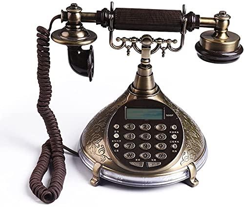 Decorativo Teléfono Teléfono Inicio Oficina Estilo Europeo Oficina Antigua Casa Sala de Estar Retro Creativo Línea Línea (Size : L250MM*H207MM)
