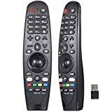 AN-MR19BA AN-MR18BA AN-MR650A AN-MR600A - Mando a distancia mágico para LG Smart TV con Netflix y botones Amazon Voice Mate para todos los televisores LG 4K UHD Smart LG 2018 (con receptor USB)