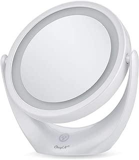 卓上ミラー 化粧鏡 スタンドミラー 鏡 両面鏡 浴室鏡 メイクミラー led付き 充電式 1倍/5倍拡大鏡 明るさ調節 360度回転