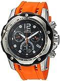 Invicta Men's Speedway 51mm Stainless Steel Chronograph Quartz Watch with Orange Polyurethane Band, Orange (Model: 20072)