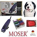 Rotschopf24 EDITION: Moser Tierschermaschine R33 Adjustable + 8 Edelstahl-Aufsteckkämme + Tasche. Made in Germany!