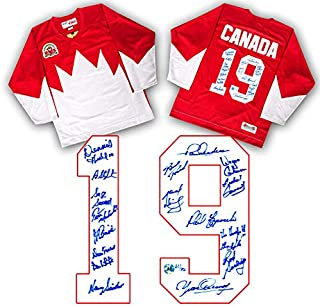 Paul Henderson 1972 Summit Series Team Signed Canada Jersey #/72-18 Autographs