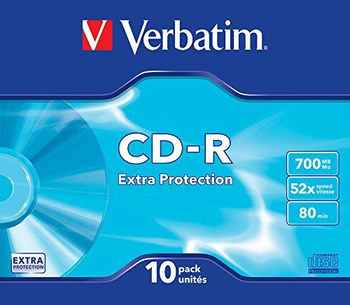VERBATIM CDR DATALIFE 48X 700 MB P SUPLSLIM Tray CART. 10 Pack EX/Pro