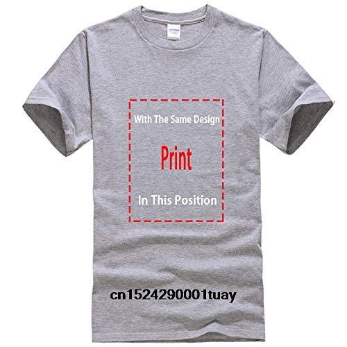 ERSHIWU Männer T-Shirt Drake- Owl T-Shirt der gedruckten T-Shirt T-Shirt oben (Color : Men LightGrey, Size : M)