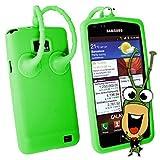 numerva Schutzhülle kompatibel mit Samsung Galaxy S2 Hülle Silikon Handyhülle für Galaxy S2 Hülle [Grün (Grashüpfer)]