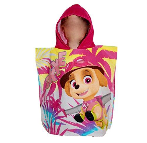 Poncho Paw Patrol fucsia Pink toalla de playa toalla niña Skye
