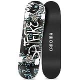 "Caroma 31inches Skateboard for Beginners Standard Skateboards for Teen Kids Boys Girls Youths Starter-Complete Skate Boards 31.1""x 7.9"" Canadian Maple Pro Cruiser"