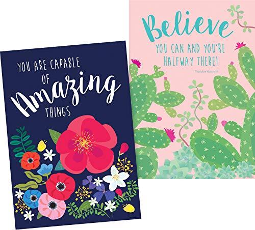 Barker Creek Poster Duet Set - Believe in Yourself - Petals & Prickles Collection