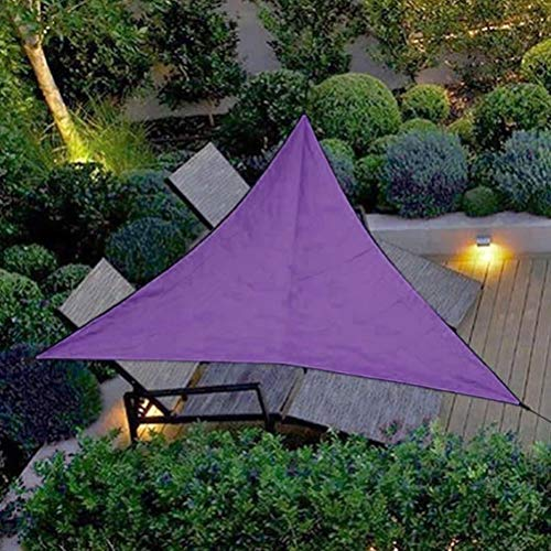 Wasserdicht Sunproof Triangle Sun Shade Sail, Sonnenschutz Markise Baldachin 98% UV-Block Schutz Dreieck Anthrazit Markise für Outdoor Garden Patio Party, 3 * 3 * 3M, Lila