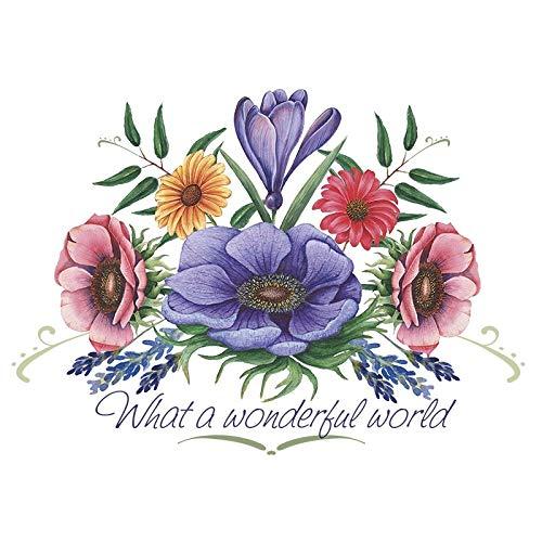 Color Bügeltransfer, DIN A4   Textilien wie T-Shirts & Taschen mit Bügelmotiven verzieren   schnell & einfach aufbügeln   Blumen & Blüten Serie   DIY Textildesign (Design 15)