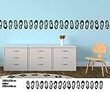 Wandtattoo selbstklebend Bordüre Schuhe Pumps Schuhschrank Pömps Set Kinderzimmer Banner Aufkleber Wohnzimmer 1U338, Farbe:Königsblau Matt;Länge x Breite:200cm x 28cm
