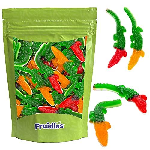 Fruidles Crocodiles Gummi Candy, Delicious Multicolor Fruit Flavors Gummies (Half-Pound)