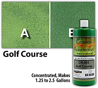 Concrete Stain Concentrate Just Add Water, User & Eco-Friendly Semi-Transparent Professional Grade Cement Stain, Concrete Resurrection Brand (32 ounce, Golf Course)