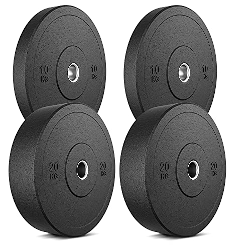 Marbo Sport Bumper Plates Piatti in Gomma Piena in Gomma Piena Set 60 kg / 2 x 20 kg + 2 x 10 kg   Made in EU