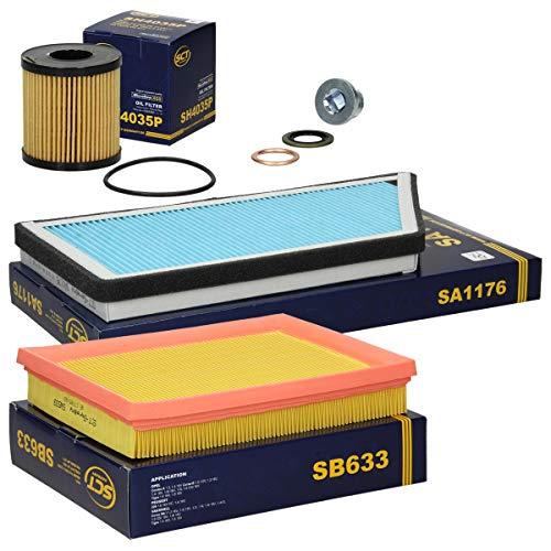 Inspektionspaket Wartungspaket Filterset 1 x Ölfilter 1 x Luftfilter 1 x Innenraumfilter 1 x Ölablassschraube mit Dichtring