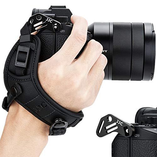 JJC Spiegellose Kamera-Handschlaufe für Sony A6000 A6300 A6400 A6500 A5100 A5000 A7RIII A7III A7RII A7SII A7II A7R A7S A7 A9 RX1 RX1R RX1RII RX10 II III IV A99II A77II A99 A77 A68 HX350 HX400V H400