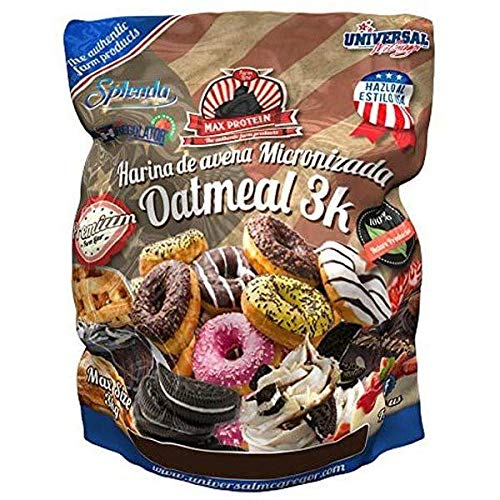Max Protein Good Morning Instant Oatmeal   Harina para Brownie, 3 kg