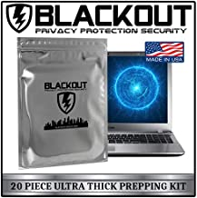 BLACKOUT Faraday Cage EMP Bags Premium Ultra Thick 20pc Prepping Kit Laptops Tablets Smartphones Hard Drives