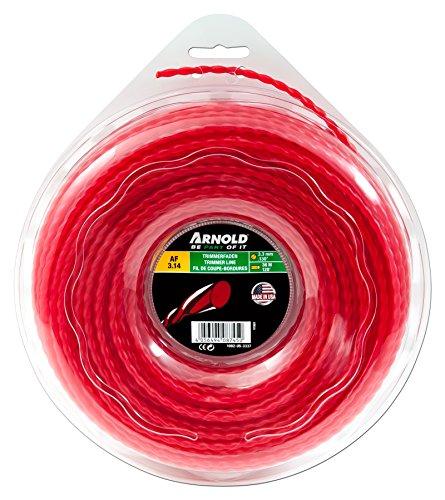 ARNOLD 1082-U5-3337 Trimmerfaden AF 3,14, 3,3mm x 36,5m, rot, rund, gedreht