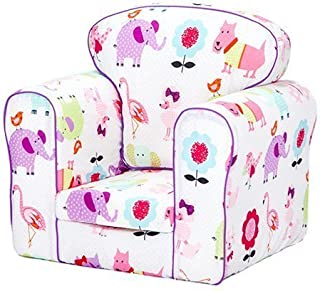 Ready Steady Bed  Cute Pets Design Upholstered Children s Armchair with Removable Cover