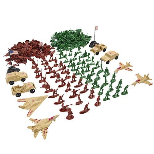 210pcs Juguete Militar Ejército de Modelo Figura de Acción