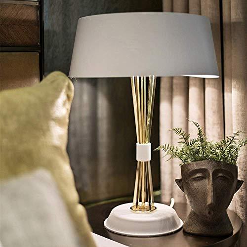 Lámpara de mesa Lámparas de Nightstand Lámpara de mesa moderna minimalista creativo de la manera de Hong Kong-estilo de lujo personalidad cálida luz de la decoración de la sala dormitorio Estudio escr