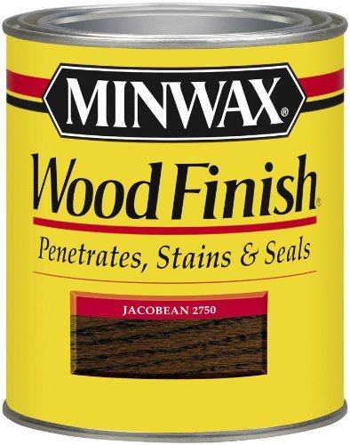 Minwax 22750 1/2 Pint Wood Finish Interior Wood Stain, Jacobean Color: Jacobean, Model: 22750, Tools & Hardware store