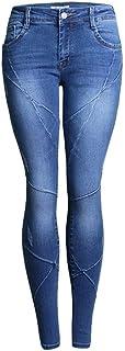 Tejanos de tiro bajo de las mujeres atractivas del estiramiento de los pantalones vaqueros pantalones apretados de costura...